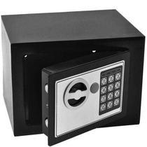 Cofre de Segurança Digital Eletrônico com Senha e Chave de Aço 23x17cm IWCFS-002 - Importway