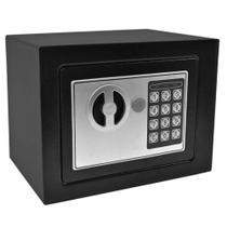 Cofre de Segurança Digital Eletrônico com Senha e Chave de Aço - Wap