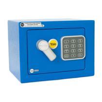 Cofre Digital Com Chave E Senha Yale Mini Blue -