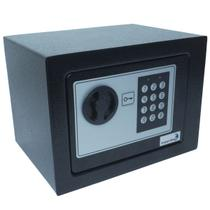 Cofre Digital Eletrônico 23x17x17 Senha Teclado Chave Residêncial Pequeno Importway IWCFS-002 Preto -