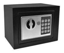 Cofre Digital Eletrônico Com Senha E Chave Aço 23x17cm - N/A