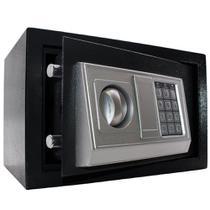 Cofre digital eletrônico Preto 31x20x20cm senha e chave BM96-X - Lorben -