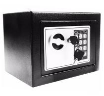 Cofre Digital Pequeno Com Senha e Chave (17cm x 23cm x 17cm) -