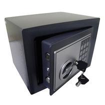 Cofre Eletronico 2 Chaves Segredo Teclado Numerico Preto (BSL2054) - Black Bull