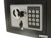 Cofre Eletrônico Digital Aço Teclado Senha + Chaves Parede - Wap