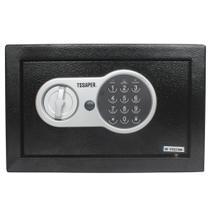 Cofre eletrônico digital em aço teclado com senha + 2 chaves (20x31x20cm)  E20st - Tssaper