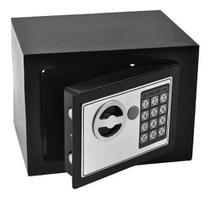 Cofre Eletrônico Digital Teclado Com Senha + 2 Chaves - M&C