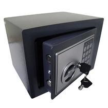 Cofre Eletronico Digital Teclado Numerico 2 Chaves Segredo Preto - Braslu
