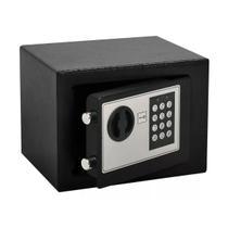Cofre Fechadura Eletrônica Aço Senha Chave 23x17 Importway - Import Way
