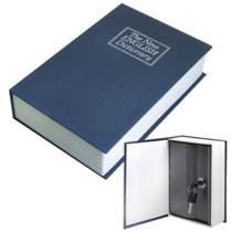 Cofre livro de segurança camuflado dicionario com 2 chaves pequeno porta joias e dinheiro mini luxo - Kangur