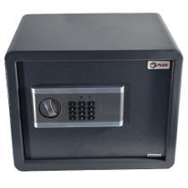 Cofre Parede Fechadura Eletrônica Chave 38x30x30cm AVB E30da -