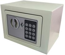 Cofre Pequeno Digital e Manual Modelo Mini 17x23x17cm Marca Akordar -