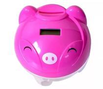 Cofrinho Digital Conta Moedas Porquinho Pig Bank Visor LCD - Wellmix