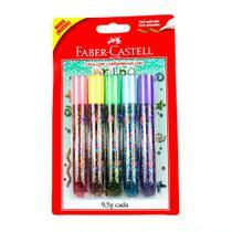 Cola Colorida Com Glitter Faber 5 Cores - Faber-castell -
