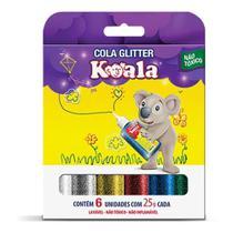 Cola Com Gliter Koala 6 Cores Delta -