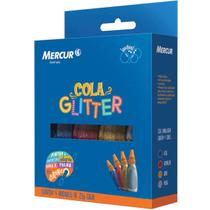 Cola Com Glitter 4 Cores 20G. Mercur - Cx. c/04 -