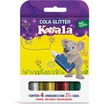 Cola com Glitter Koala 4 Cores - Delta