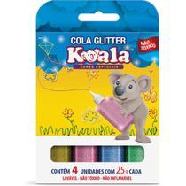 Cola com Glitter Koala 4 Cores Neon 25G - Delta