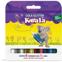 Cola com Glitter Koala 6 Cores - Delta