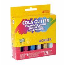 Cola gliter 23g sortida / 6un / acrilex -