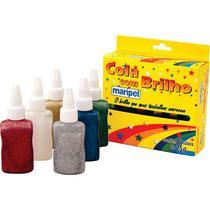 Cola Gliter 6 Cores Sortidas Maripel -