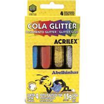 Cola gliter acrilex 15g 4 cores un -