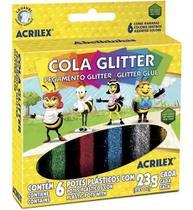 Cola Glitter 6 Cores 23g Acrilex -