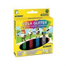 Cola Glitter 6 cores Acrilex 23g cada -