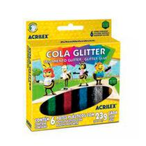 Cola Glitter 6 Cores Acrilex -