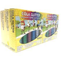 Cola glitter acrilex 06 cores 23g cada - kit com 06 caixinhas -