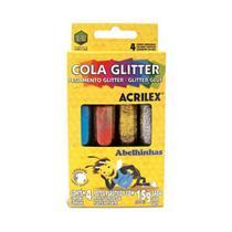 Cola Glitter Acrilex 15g - 4 Cores -
