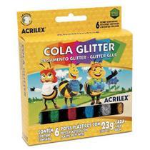 Cola Glitter com 6 Cores 23gr  Acrilex -