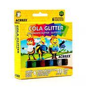 Cola glitter com 6 cores sortidas acrilex -