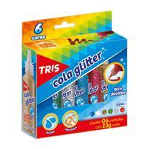 Cola Glitter Tris 23g com 6 Cores 681436 -