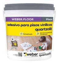 Cola Piso Vinílico Quartzolit Weberfloor Adesivo Balde 4kg -