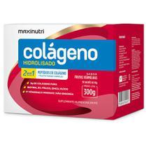 Colágeno Hidrolisado 2 em 1 Verisol - 30 Sachês de 10g - Maxinutri Frutas Vermelhas -
