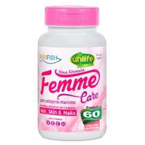 Colágeno Marinho - Femme Care Verifish (500mg) 60 Cápsulas - Unilife -
