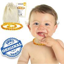 Colar Âmbar Báltico Bebê Dentição Infantil 33 Cm Certificado Mel Claro - Amber Empire
