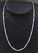 4a4e9c8ba11 Colar - Prata 925 - Bolinha Com Tracinho - 45cm - 2