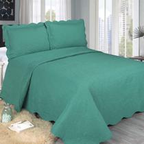 Colcha Barroque Verde Solteiro 160x230cm Camesa -