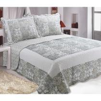 Colcha Cobre Leito  Patchwork Casal Lucca Realce Top -