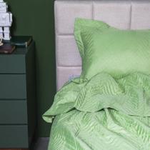 Colcha de Solteiro e 1 Porta-Travesseiro Ultrasonic Zig Zag Verde - ETNA