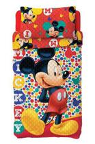Colcha Dupla Face Infantil Bouti Lepper + Fronha Mickey