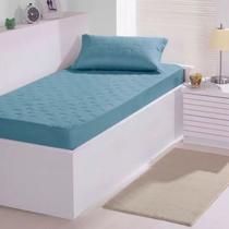 Colcha Fixa Buettner Solteiro Malha Sleep 02 Pçs Azul -