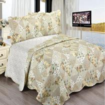 Colcha King Camesa Evolution Patchword 280x260cm Jessia