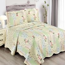 Colcha King Camesa Evolution Patchword 280x260cm Mia