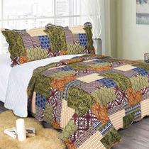 Colcha King Evoluition Patchwork Verdi 260 x 280cm Camesa