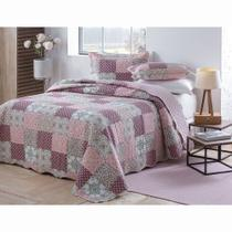 Colcha Patchwork - King Size - Dupla Face - C/ Porta Travesseiros - Monza 4 - Rozac