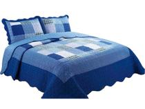 Colcha patchwork microfibra cama casal liam 2,5x2,20m sultan -