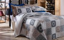 Colcha Patchwork - Queen Size - Dupla Face - C/ Porta Travesseiros - Bristol 2 - Rozac